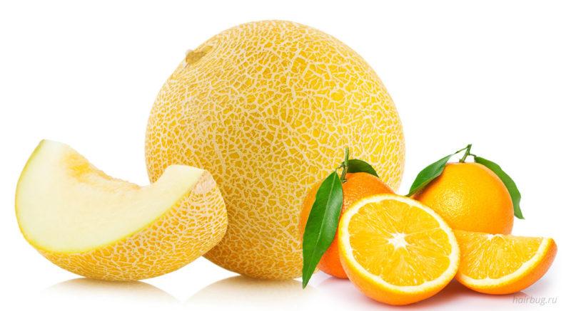 Дыни и апельсины — естественный источник инозитола.
