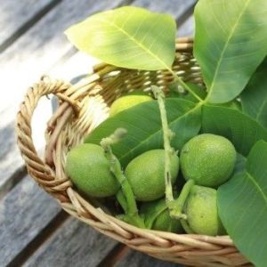 Зеленый грецкий орех для удаления волос