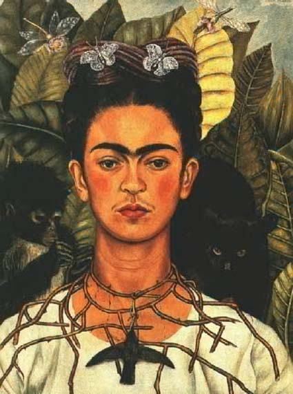 Автопортрет мексиканской художницы Фриды Кало (1940)