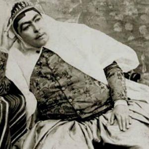 Любимая жена иранского шаха Насер ад-Дин Шах Каджар  по имени Анис аль-Долех (ок. 1870-х гг).