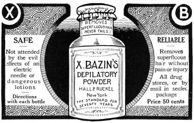 Порошок для депиляции, 1911 г.