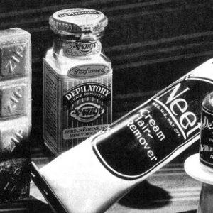 Порошок, тоник и крем для депиляции в 1935 году.