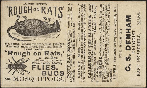 Крысиный яд для удаления волос (Flickr: boston_public_library / Creative Commons)